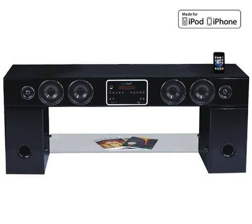 Meuble tv home cinema auchan soundvision sv2900 noir sv for Meuble tv auchan