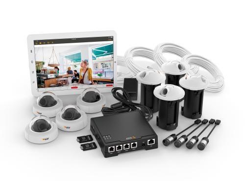axis f34 un kit de vid osurveillance 4 cam ras pour. Black Bedroom Furniture Sets. Home Design Ideas